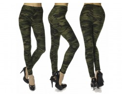 Green Camouflage Pattern Leggings