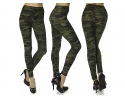 Green Camouflage Pattern Leggings