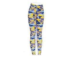 Purple & Yellow Camouflage Pattern Leggings