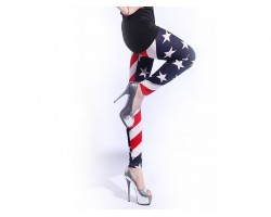 USA Flag Theme Leggings