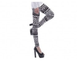 Black Aztec Tribal Pattern Leggings