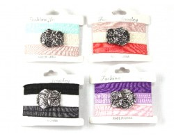Assorted Ribbon Owl Bracelet Hair Ties 18pk