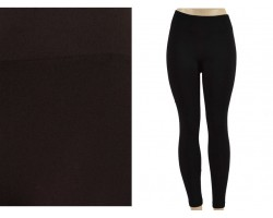 Black Solid Color Leggings