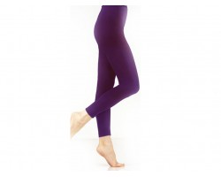 Dark Purple Solid Color Leggings