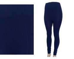 Navy Blue Solid Color Leggings
