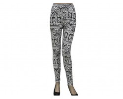 Black Paisley Pattern Leggings