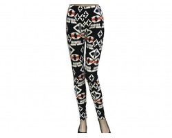 Multi Aztec Tribal Pattern Leggings