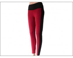 Red Black Striped Leggings