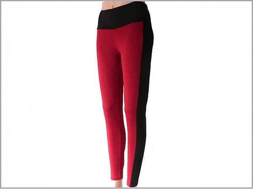 Red Black Striped Leggings ... - Red Black Striped Leggings - BH28030RBK