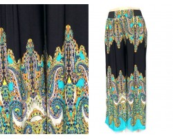 Multi Turquoise Colored Paisley Lounge Pant
