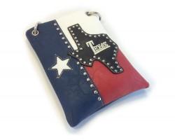Texas Map Flag Crystal Fringe Messenger Bag