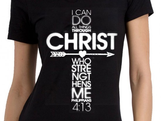 Philippians 4:13 Cross Short Sleeve Shirt