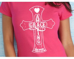 Amazing Grace Cross Short Sleeve Shirt
