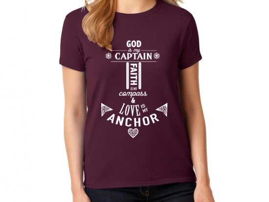 Captain Faith Love Anchor Short Sleeve Shirt