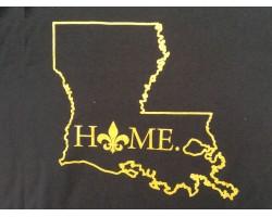 Black Gold Home Louisiana State Map T Shirt
