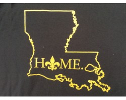Black Gold Home Louisiana State Map T Shirt