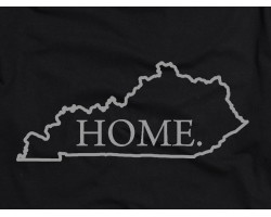 Black Silver Home Kentucky State Map T Shirt