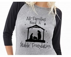 Family Stable Foundation 3/4 Raglan Shirt