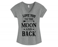 Love You to the Moon And Back Short Sleeve Shirt
