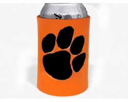 Orange Black Paw Print Koozie