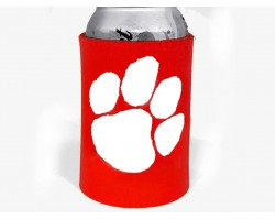 Red White Paw Print Koozie