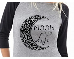 Moon of My Life 3/4 Raglan Shirt