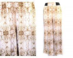 Brown Abstract Pattern Palazzo Pants