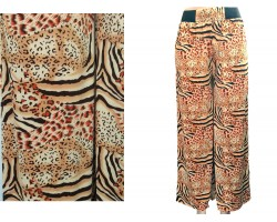 Orange Yellow Tiger Cheetah Print Palazzo Pants