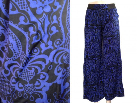 Blue Floral Pattern Lounge Pants