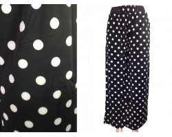 Black White Polka Dot Pattern Lounge Pants