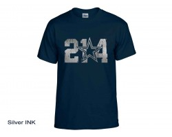 214 Dallas Texas Area Code Star Short Sleeve Shirt