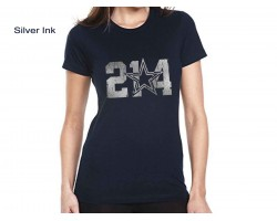 Navy 214 Star Female Short Sleeve Shirt