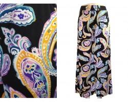 Multi Paisley Floral Pattern Palazzo Pants