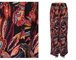 Dark Multi Floral Pattern Lounge Pants