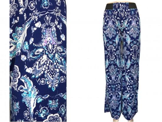 Blue Floral Pattern Lounge Pants