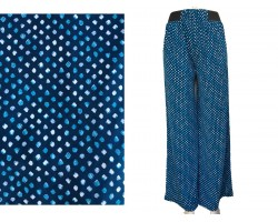 Blue Shades Polka Dot Pattern Lounge Pants