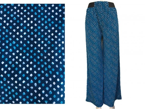 Blue Shades Polka Dot Pattern Lounge Pants