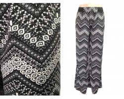 Gray Chevron Pattern Lounge Pants