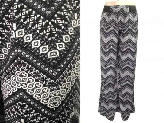 Gray Chevron Pattern Lounge Pants