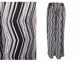 Black White Chevron Vertical Pattern Lounge Pants