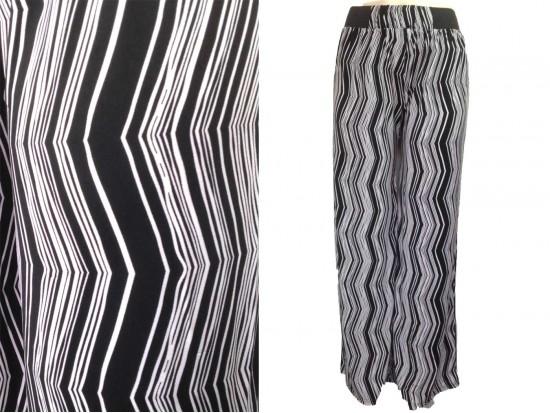 Black White Chevron Vertical Pattern Lounge Pants