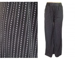 Black Gray Tiny Dot Line Pattern Lounge Pants