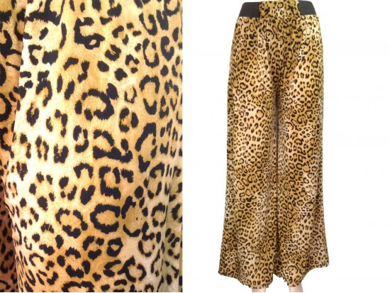 Brown Leopard Pattern Lounge Pants