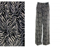 Black White Pattern Lounge Pants