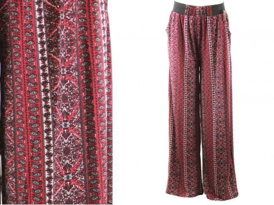 Red Pattern Lounge Pants