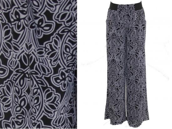 Black White Geometric Pattern Lounge Pants