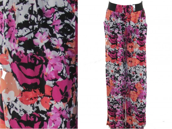 Multi Floral Pattern Lounge Pants