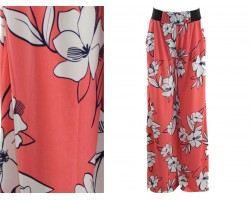 Coral Floral Pattern Lounge Pants