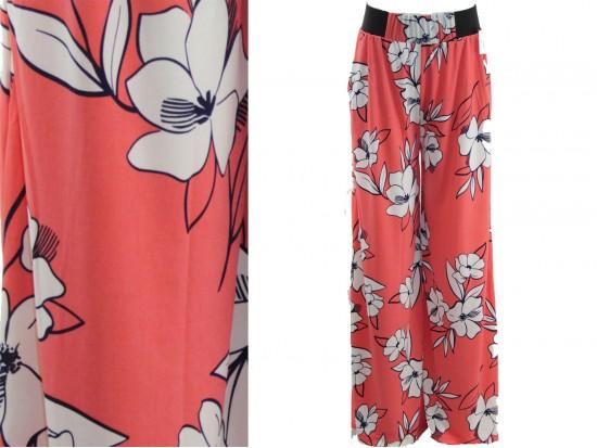 Coral Floral Pattern Lounge Pants