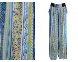 Blue Multi Floral Pattern Lounge Pants